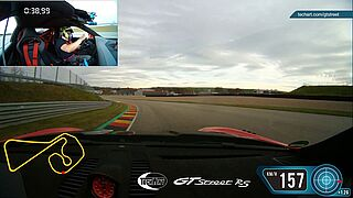 Onboard Lap - TECHART GTstreet RS beats series 911 Turbo S at the Sachsenring by 5.5 seconds